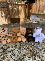Pre-owned Collectible Set Of 5 Teddy Graham Stuffed Animals Bears