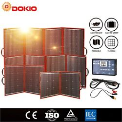Dokio Flexible Foldable Solar Panel High Efficience Travel And Phone And Boat Portab