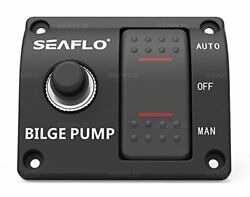Seaflo 3-way Bilge Pump Switch Panel Automatic-off-manual 12v 24v W/built-in ...