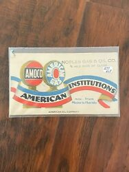 Amoco American Oil Company Blotter Noble Gas And Oil Maine To Florida Pure Baby