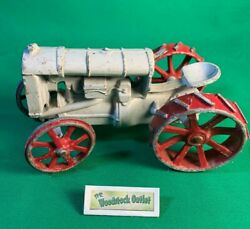 Antiqe Collectible Ertyl Diecast Fordson Arcade Tractor Toy Red And White Paint