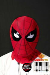 1/1 Spider Man Mask Movable Eyes Cover W/sound Control Cosplay Props Model Toy