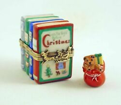 New French Limoges Trinket Box Christmas Books Night Before Christmas Rem. Toys