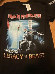 Iron Maiden Legacy Of The Beast T-shirt New S M L Xl Xxl Official Free Shipping