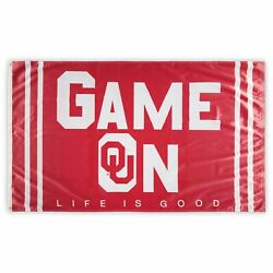 Oklahoma Sooners Wincraft Life Is Good Single-sided 3' X 5' Deluxe Flag