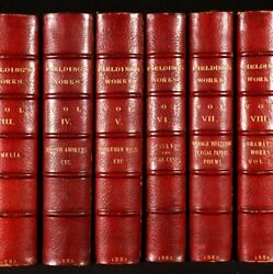 1882 10vols The Works Of Henry Fielding Illustrated Sotheran Binding