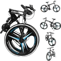 26and039and039 Folding Mountain Bike Shimanos 21 Speed Bicycles Full Suspension Mtb Bikes