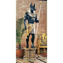 Ne23262 - The Grand Ruler Life-size Egyption Anubis Sculpture -over 8and039 Tall