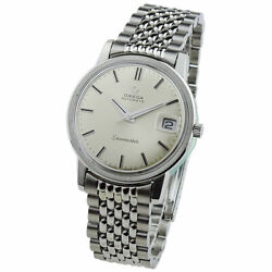 Omega Seamaster Stainless Steel Vintage Automatic Wristwatch 1970 Omega Service