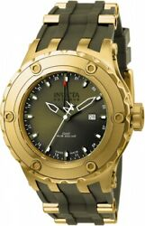 Men's 12039 Subaqua Reserve Gmt Olive Dial Olive Rubber Band