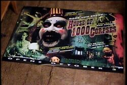 House Of 1000 Corpses Roll Orig British Quad 30x40 Movie Poster Rob Zombie Rare