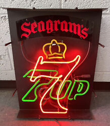 Vintage 1990andrsquos Seagramandrsquos 7up Light-up Display Sign