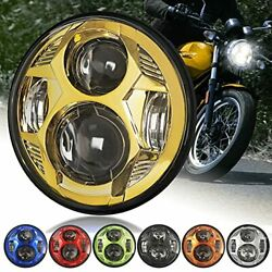 5-3/4andrsquoandrsquo 5.75 Inch Led Headlight 51w Dot Approved Compatible With Harley Dyna ...