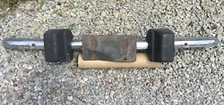 Mg Midget 1974 Andbull Front Bumper Bar + Rubber Overriders And Brackets. Used. Mg4230