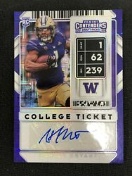 2020 Contenders Hunter Bryant College Ticket Rookie Autograph Auto 2/10