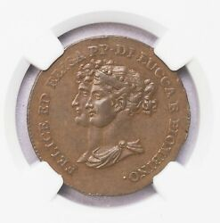 Ngc-au58bn 1806 Italy 5cents Luccaandplombino Only Three Finer Well Struck