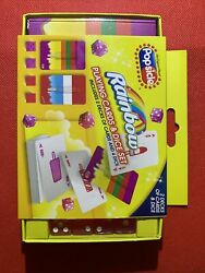 Popsicle Brand Firecracker And Rainbow Playing Card Set With Dice Rare New Box