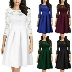 Womens Long Sleeve Dress Bridesmaid Wedding Cocktail Evening Party Dresses US $23.89