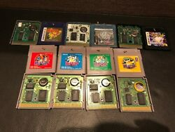 Lot 7 Game Boy Pokemon Red Blue Green Pikachu Gold Crystal Card All New Battery