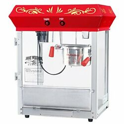 6112 Great Northern Popcorn Red Foundation Top Popcorn Popper Machine 4 Ounce