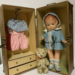Efanby Antique Baby Doll Composition Doll Vintage With Trunk Shipping From Japan