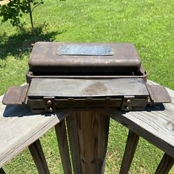 Vintage Norton Abrasives Cast Iron Multi 2 Sided Oil Stone Behr Manning Usa Made