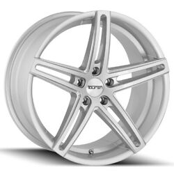 Staggered Touren Tr73 Front20x8.5rear20x10 5x120 +30mm Silver/milled Wheels
