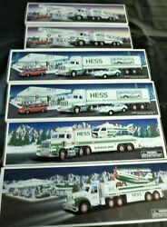 6 Hess Truck Lot 2 1988, 2 1992, 1995 And 2002