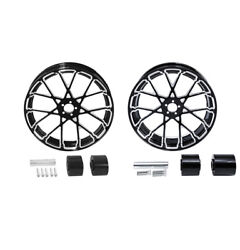18 Front And Rear Wheel Rim W/ Hub Fit For Harley Touring Street Glide 2008-2021