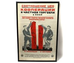 Propaganda Poster Price Correlation Between Cooperation And Private Trade Ussr