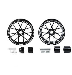 18'' Front And Rear Wheel Rims W/ Hubs Fit For Harley Touring Street Glide 2008-up