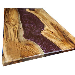 Epoxy Resin River Dining Table Top Handmade Wooden Acacia Decor Made To Order