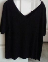 Talbots Top Black Knit Sz 2x New With Tags 69.50 Cotton/rayon