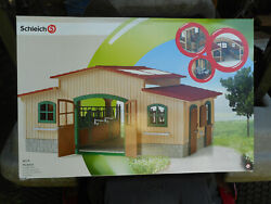 Schleich Barn Toy/ 42110/ Retired Item/ Horse Stable / New In Box
