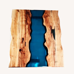 Epoxy Table Furniture Wooden Walnut Transparent Resort Decorative Made To Order