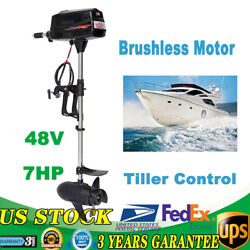 Hangkai 48v 7hp Outboard Inflatable Canoes Fishing Boats Engine Brushless Motor