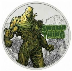 2021 Niue Dc Justice League Swamp Thing 50th Anniversary 1 Oz Silver Coin