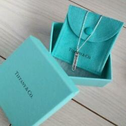 And Co. Sterling Silver 1p Diamond Notes Bar Pendant Necklace 16 W/box Dhl