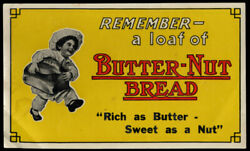 Remember A Loaf Of Butter-nut Bread Grocery Store Door Sign Ca 1930s