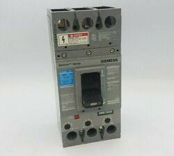 Siemens Fxd63b200 Circuit Breaker 200a 3p 600v Type Fxd6-a 200 Amp 3 Pole Used