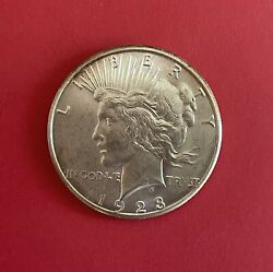 1923 S Peace Silver Dollar, Choice To Gem Uncirculated