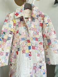 One Of A Kind - Carleen Silk Lined Quilt Coat S - Preowned Fabulous- Unique