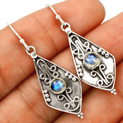 Moonstone - India 925 Sterling Silver Earring Jewelry Be16278 292d Xgb