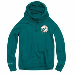 Mitchell And Ness Funnel Neck Hoody Miami Dolphins Women New Florida