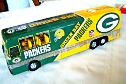 Nfl Team Bus Danbury Mint Green Bay Packers Original Packaging And Luggage Box