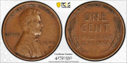 1909 S Vdb 1c Lincoln Wheat Cent Pcgs Vf 30 Very Fine To Extra Fine Key Date ...