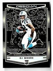 2018 Dj Moore Panini Obsidian Orange Etch Rookie Parallel /50 Panthers Khh