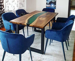Epoxy Table Top Dining/living Decor Wooden Acacia Custom Decor Made To Order