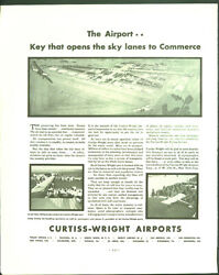 Curtiss-wright Airports Sky Lanes To Commerce / Elephant Firestone Tires Ad 1930