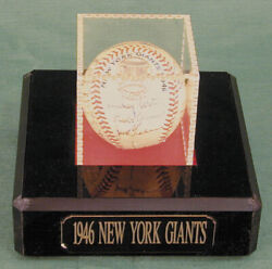 The New York Giants - Autographed Signed Baseball Circa 1946 With Co-signers